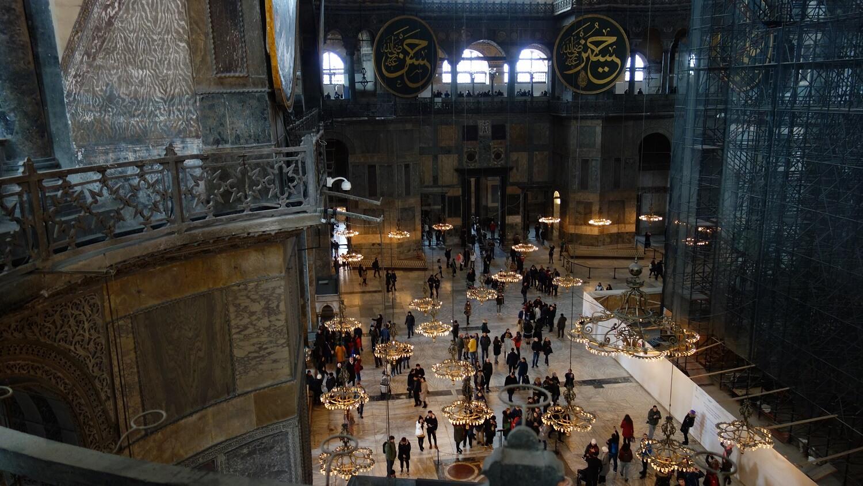 Интерьер собора Айя-София. Вид с верхней галереи