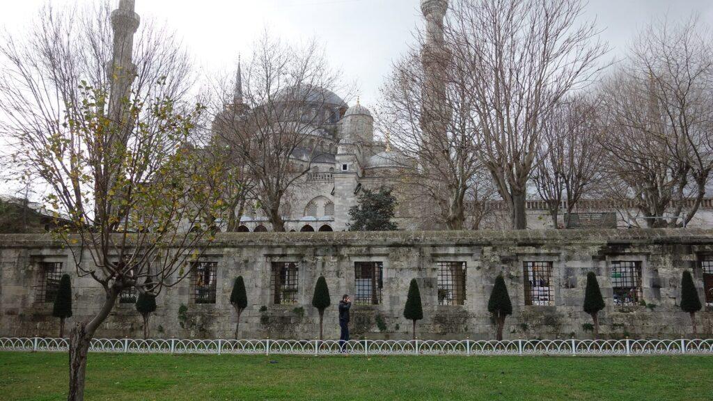 Голубая мечеть зимой