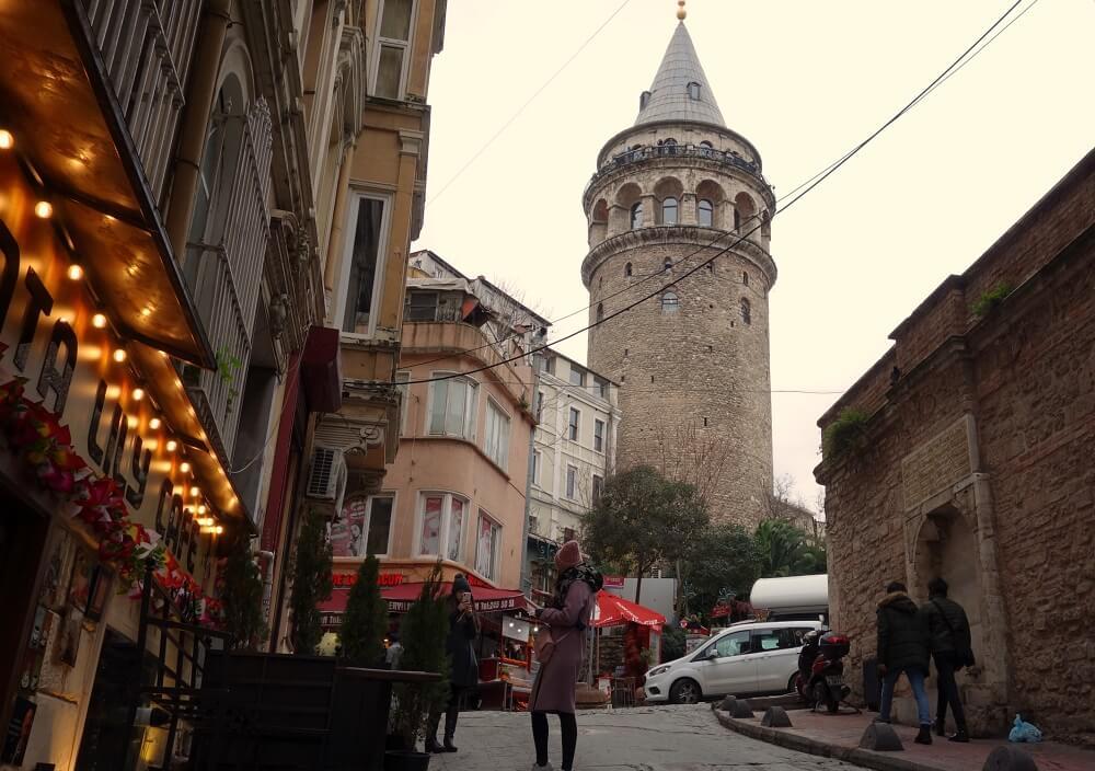 Галатская башня зимой