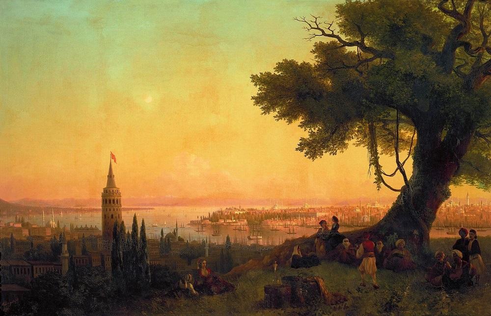Галатская башня на картине Айвазовского