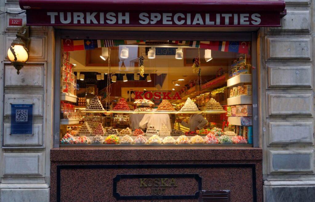 Турецкие сладости на Истикляль