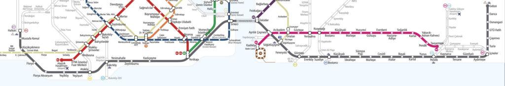 Карта Мармарай в Стамбуле
