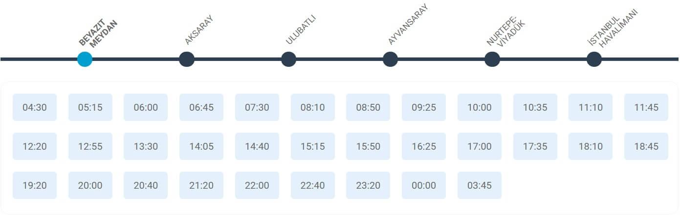 Расписание автобусов в Новый аэропорт Стамбула