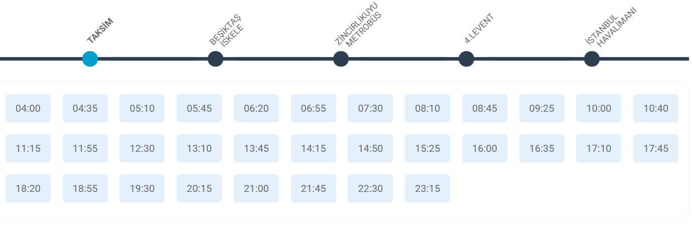 Расписание автобусов в аэропорт Стамбула