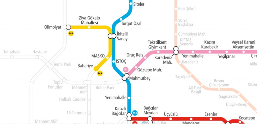 Линия метро в Стамбуле