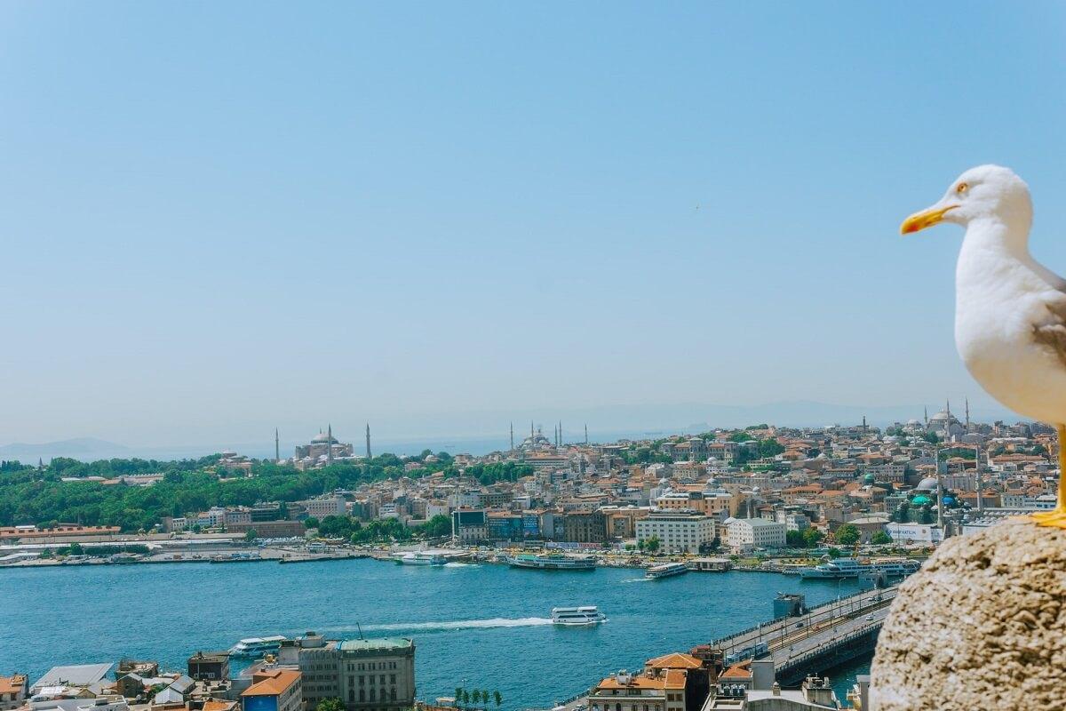 Вид на Султанахмет в Стамбуле