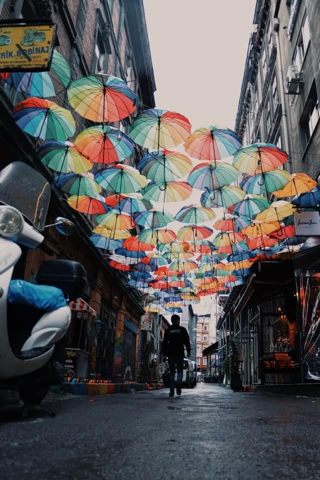 Улицы Стамбула зимой